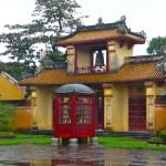 Zitadelle in Hue an einem Regentag