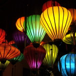 Bunte Lampions