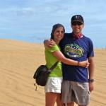 Tanja & Rene in den weissen Sanddünen von Mui Ne