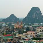 Ausblick von Marble Mountains auf Danang, Vietnam