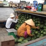 Fischerboot Floating Marketing im Mekong Delta, Vietnam