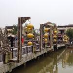 Brücke mit gelben Lampions in Hoi An, Vietnam