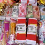 Papiergeldscheine für Tet Fest in Vietnam