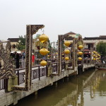 Brücke mit Lampions in Hoi An, Vietnam