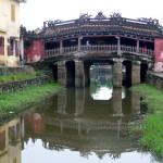 Japanische rote Brücke in Hoi An, Vietnam
