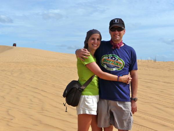 Tanja & Rene in den weissen Sanddünen