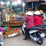 Marktstand in Dalat in Vietnam