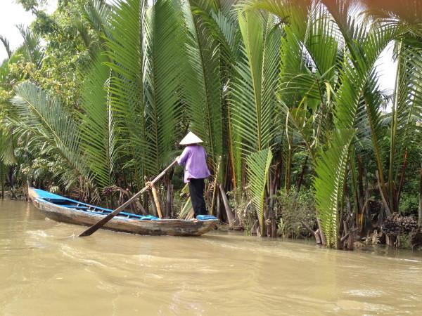 Bootsfahrt im Mekong Delta