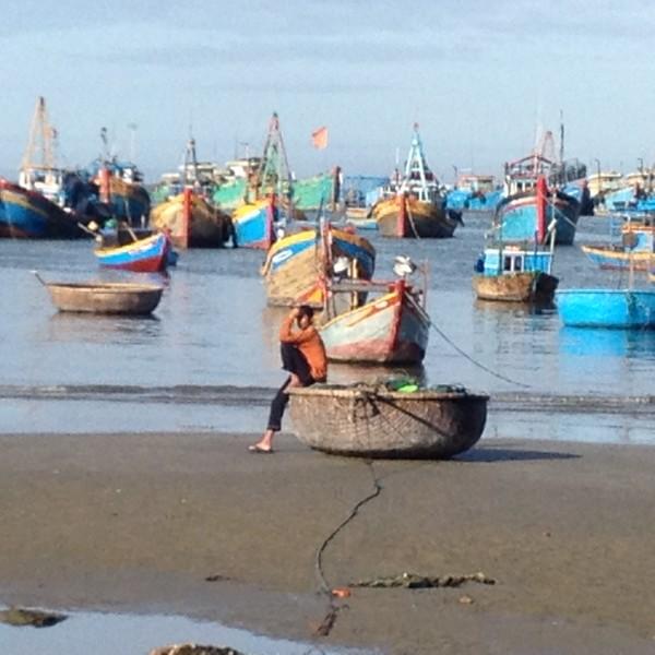 Fischerboote Mui Ne