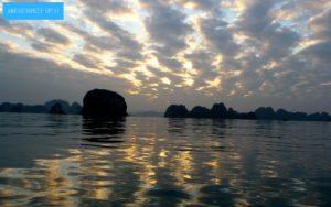 Vietname Wallpaper Halongbucht Sonnenuntergang 1920x1200 pixel