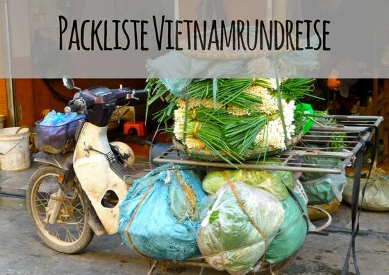 Packliste Vietnamrundreise Moped mit sehr viel Gepäck