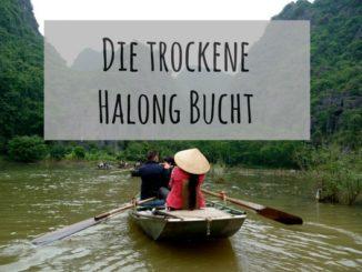 Bootsfahrt in der trockenen Halong Bucht Ninh Binh