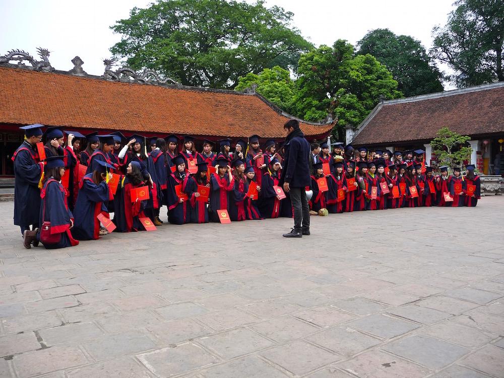Schulklasse in Hanoi