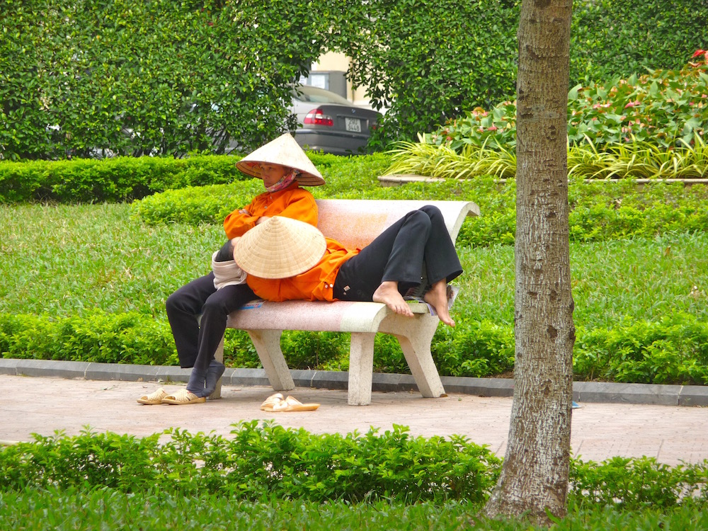 Zeit für ein Schläfchen in Hanoi